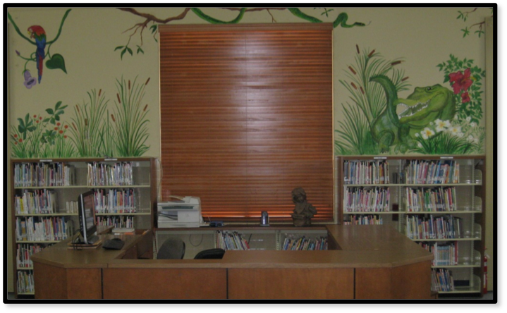 Photo of the Library Desk