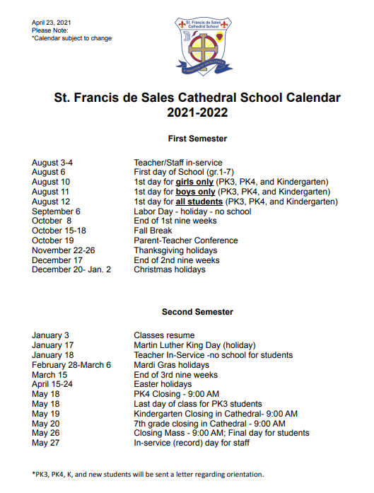 Image of Calendar links to File